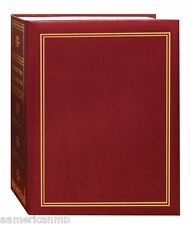 TA46 Pioneer Photo Album Burgundy Holds 208 Pictures Size 4x6 w/Golden Print New