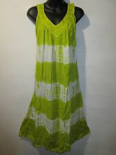 Dress Fits XL 1X 2X 3X Plus Sundress V Neck Purple Green White Tie Dye NWT G383