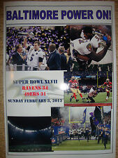Baltimore Ravens 34 San Francisco 49ers 31 - 2013 Super Bowl - souvenir print