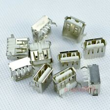 10x USB 2.0  A Female Plug Connector Socket Jack, Laptop & Notebook DIY PCB D13