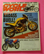 CYCLE WORLD MAGAZINE OCT/1995..EXCLUSIVE BADASS BUELL S1 LIGHTNING