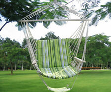 Green Leisure Swing Hammock Hanging Outdoor Chair Garden Patio Yard 260Lbs