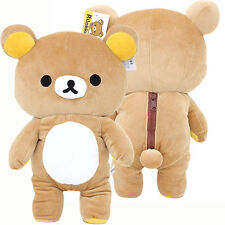 "Rilakkuma Large Plush Doll 15"" Microfiber Soft Stuffed Toy with Beans Licensed"