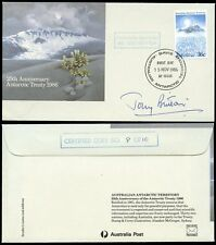 AUSTRALIA ANTARCTIC TERRITORY SIGNED FDC 1986 DAVIS...TONY BRITTON ACTOR