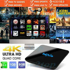 2017 MXQ PRO 4k Quad Core Android 6.0 TV BOX completamente caricato KODI XBMC Media Player