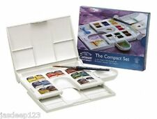 Winsor and newton cotman aquarelle compact set palette case 14 de la moitié des casseroles
