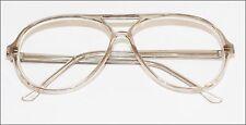"""BRAD"" Classic Large Man Reading Glasses Retro Academic Light Gray Frame +3.00"