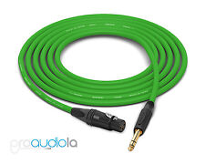 Canare Quad L-4E6S Cable | Neutrik Gold XLR-F TRS | Green 250 Feet | 250 Ft 250'