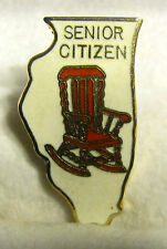 Illinois State Senior Citizen Rocking Chair Hat or Lapel Pin
