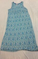 Heavenly Soft Carole HOCHMAN Blue And White  Soft Knit  Nightgown Size 1X