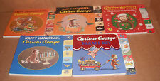 Lot of 5 Curious George Tabbed Board Books by H.A. Rey, Margret Rey NEW