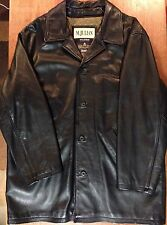M. Julian Black Leather Coat Thinsulate Wilsons Leather Size XL