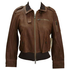 Bird by Juicy Couture Riley Vintage Leather Bomber Jacket (M)