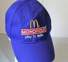 Mcdonalds Monopoly Baseball Hat Cap Play To Win 2013 Embroidered Logo Velcrosa