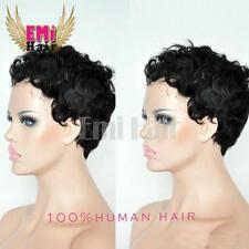 EMI E1 Hot Sale Bob Type Short Curly Brazilian Human Hair Wigs for Black Women