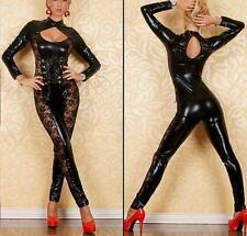 Sexy Womens Lingerie PVC lace Catsuit Jump suit Clubwear Fancy Dress 764
