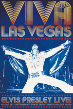 Elvis Presley Las Vegas Poster the king white cape Memphis Love me tender New!