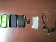 iPhone 3GS 8GB Black 2 cases 1 screen protecter 1 sync charger