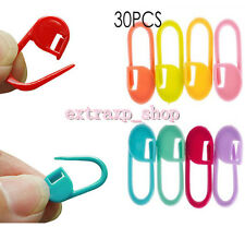30PCS Knitting Mix color Craft Crochet Locking Stitch Needle Clip Markers Holder