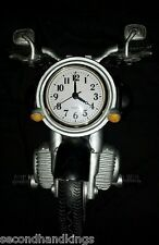 2006 BLACK & SILVER CRUISER MOTORCYCLE BATTERY OPERATED CERAMIC WALL CLOCK