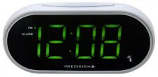 Precision Radio Controllato Digitale Display LED Verde Bianco Sveglia effett 0047