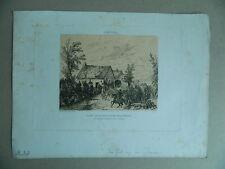 Jules DEVAUX ancienne gravure Eau forte originale signée datée Aqua-Forti 1852