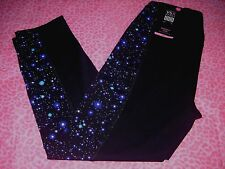 Victoria's Secret VSX KNOCKOUT Gym Capri Pant Cosmic-Night Sport NEW!! SMALL NWT