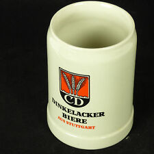 DINKELACKER BIERE .5 L German Stoneware Beer Mug Stein AUS STUTTGART Vintage CD