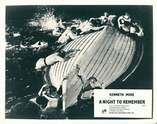 A Night To Remember original lobby card Titanic survivors cling to lifeboat