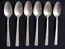 6 Teaspoons In The Caprice Pattern By Oneida Nobility Plate - 1937 Japan