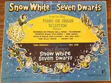 VINTAGE Snow White and the Seven Dwarfs  - easy to play for Piano and Organ