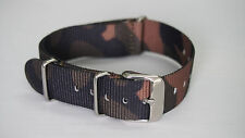 18mm Watch Band Strap Military-Style Nylon NEW FREE SHIP CAMO Color