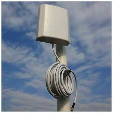 WiFi Wlan WiMax 10dBi Panel Antenna 5m/16ft Feeder line Horizontal Beamwidth 45°