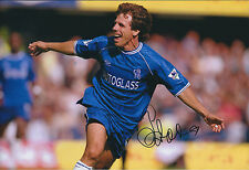 Gianfranco ZOLA SIGNED COA Autograph 12x8 Photo AFTAL CHELSEA Legend Genuine