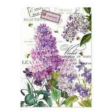 LILAC and VIOLETS Cotton Kitchen Towel by  Michel Design Works