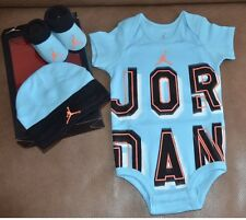 Jordan Infant  Boy 3 Piece Set 0-6 Months Bodysuit , Cap, Booties Kids