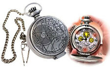 10th Dr Doctor Who Working MASTER'S FOB POCKET WATCH - Metal Case Light-Up Dial