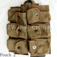 WWII WW2 US ARMY PARATROOPER INFANTRY BAR EQUIPMENT BELT 6 HOLDER AMMO POUCH BAG