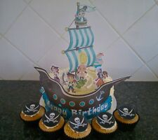 Edible Pirate Cake Decorations Pirate Ship Icing Toppers Boys Birthday Party