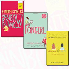 Rainbow Rowell Collection 3 Books Set Kindred Spirits,Fangirl,Eleanor & Park NEW