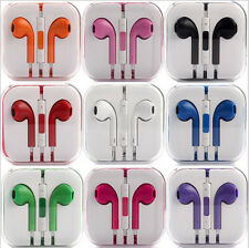 Orange Earphones Earbud Headphone with Mic Control for Apple iPhone 5 iphone 6