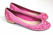 Christian Dior Snakeskin Embroidered Pink flats  38 uk 5