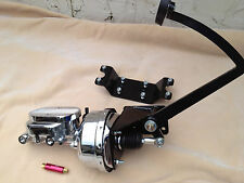 "Ford Model T & Model A 7"" chrome booster & master cyl w/ residual valve"