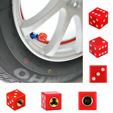 Universal Dice Car Truck Bike Wheel Airtight Tyre Tire Stem Air Valve Cap Red VA