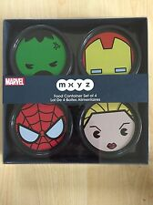 Disney Store Marvel MXYZ Set Of 4 Food Containers BNIB