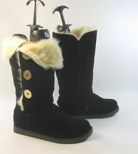 new Blacks round toe winter sexy mid-calf boot side gold button .Size. 7  p