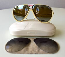 vintage CARRERA 5593 rare ski aviator gold mirror sunglasses, case, extra lenses