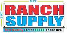 RANCH SUPPLY Banner Sign NEW Larger Size Best Quality for The $$$