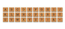 Cavallini MINI UPPERCASE AMERICAN ALPHABET Assorted Wooden Rubber Stamps in Tin
