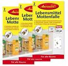 Aeroxon Lebensmittel-Mottenfallen Mottenfalle Pheromonfalle 3x 2 Stück